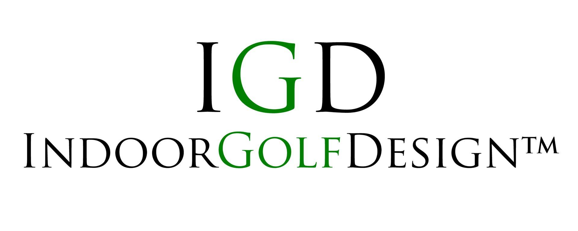 indoor golf design logo